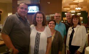 Bumper Kunkle, Tom Bodman, Pete Brennan & wives