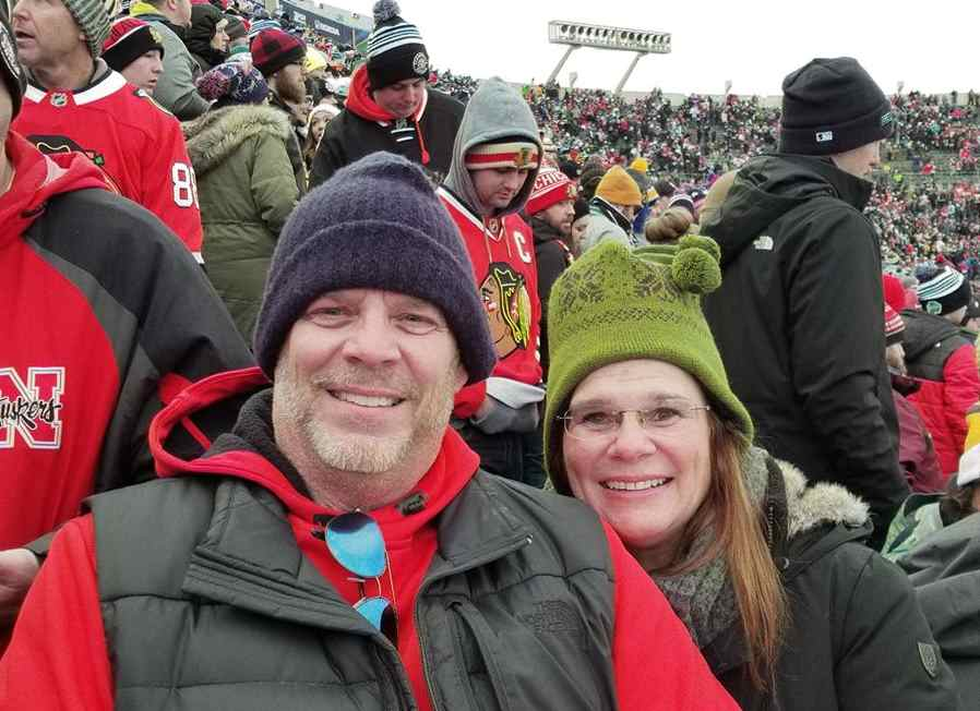 Deb & Craig Matteson at hockey game