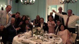 Classmates at Jim Goulden's daughter's wedding