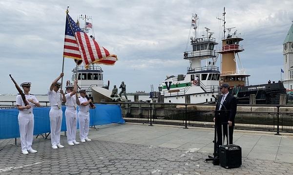 Color Guard at Maritime Memorial in Battery Park