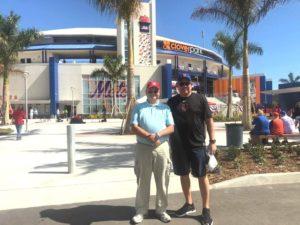 Tom Bodman & Bumper Kunkle at Spring Training