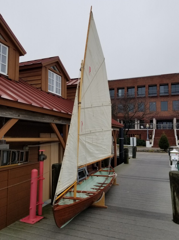 Steve Keating's sailing canoe