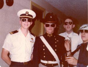 Halloween 1979: Jerry Spanier, Mark Allen, Bill Rupy and Kevin Brofford