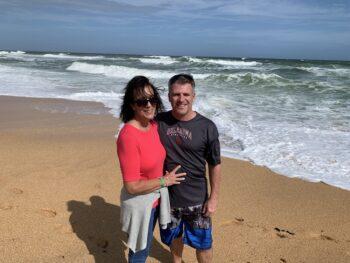 Karen & Brian Foy celebrating her birthday in Palm Coast