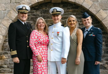 CDR Kevin, Susan, ENS Evan and CAPT Kelsey Brofford
