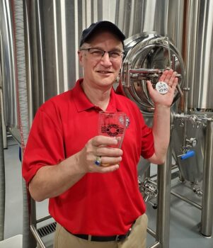 Mark Smith at the brewery